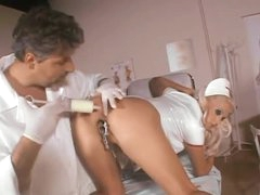 Massive milk enema followed by nurse anal sex