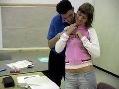 Teacher Shows his Big Wang to a Horny Teen Student