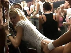 Hard core group sex in night club