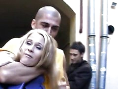 Cute legal age teenager hotty in insane anal gang bang