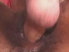 Chocolate pussy drilled