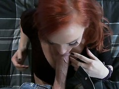 Redhead hottie Dani Jensen pleases hunk Johnny Sins with amzing hardcore
