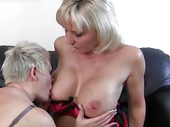 mature blonde lesbians having fun and hard sex