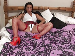 brunette mature enjoys some time alone