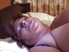 huge granny masturbating with a vibrator