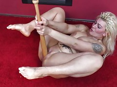 masturbating with a baseball bat