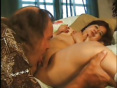 little brunette slut making a perfect blowjob