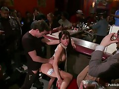 gia dimarco gets humiliated and pleasured in a bar
