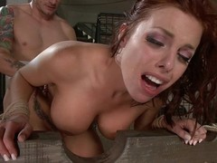 Redhead Milf gets her ass punished deep