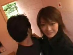 Getting frisky with hot Japanese chick