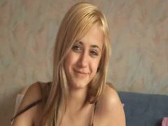 Blonde russian girl undress for you